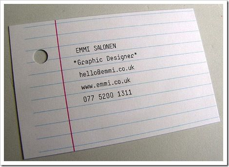 M7 business cards this card looks like a piece of notebook paper m7 business cards this card looks like a piece of notebook paper with a hole in it so cool the font and sizes are great great design gr102 pinterest colourmoves