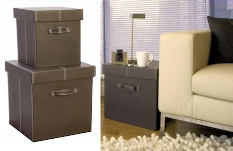 2 X Faux Leather Cubes A Place For Everything Storage Storage Boxes Small Storage