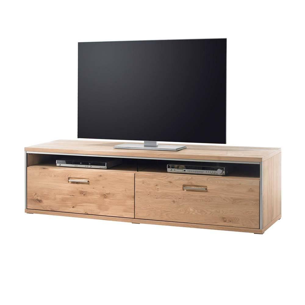 TV Board aus Asteiche Bianco Schubladen Jetzt bestellen unter ...