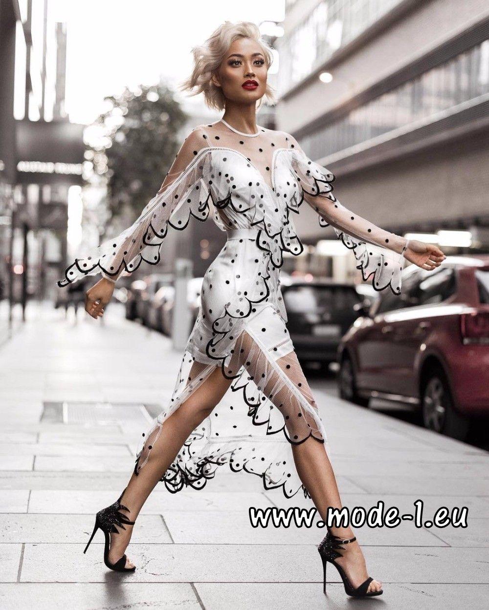 Sexy Cocktailkleid 2018 Transparent in Weiß | Damenmode 2018: Alle ...