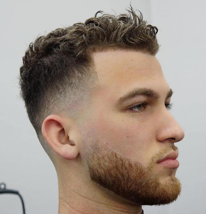 Degradado pelo ondulado hombre