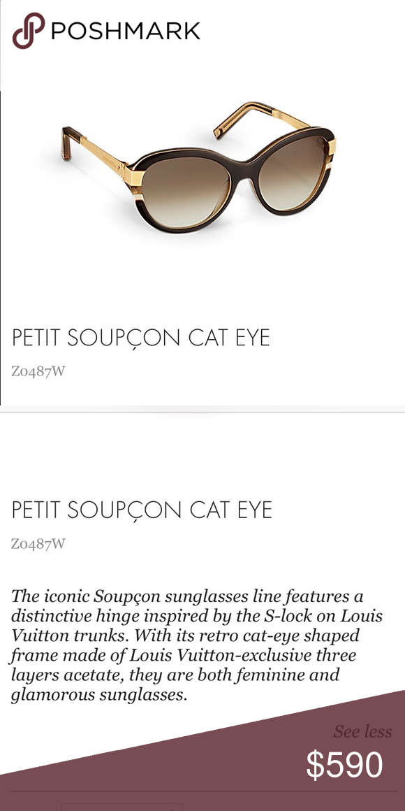 7c47d3fdb05b Petite Soupcon Cat Eye Sunglasses Used a few times like new. No visible  scratches
