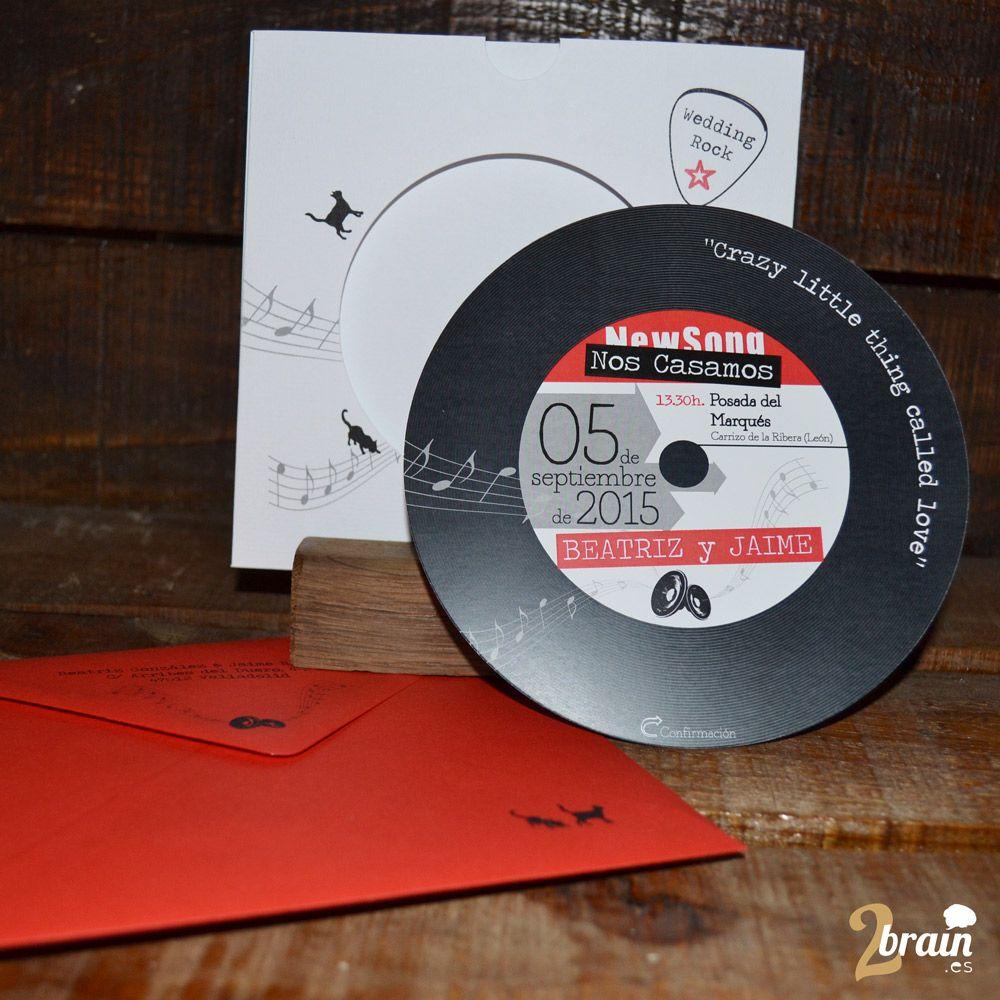 Invitación con forma CD