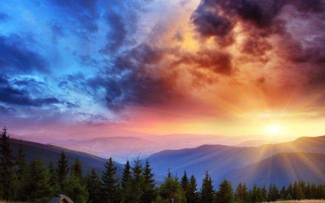 Sunrise Landscape Beautiful Scenery Wallpaper