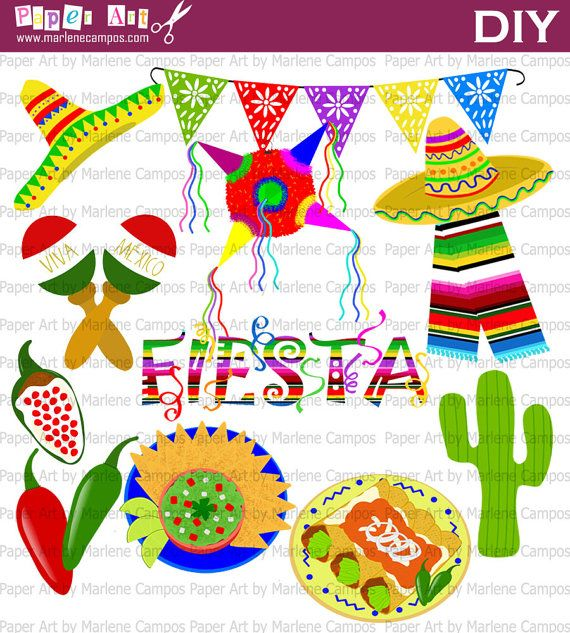 INSTANT DOWNLOAD Mexican Fiesta Mexican Party by PaperArtbyMC ...
