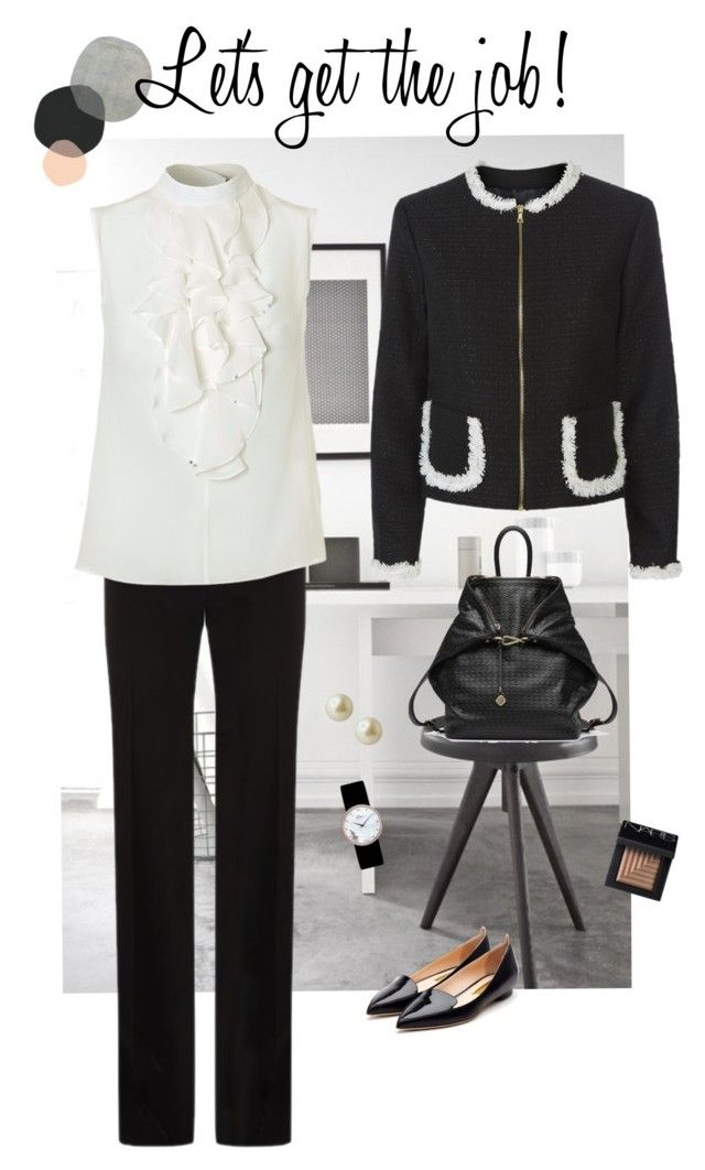 """""""Let's get the job!"""" by silkarmour ❤ liked on Polyvore featuring BOSS Hugo Boss, Madderson London, Rupert Sanderson, Carolee, NARS Cosmetics and Christian Dior"""