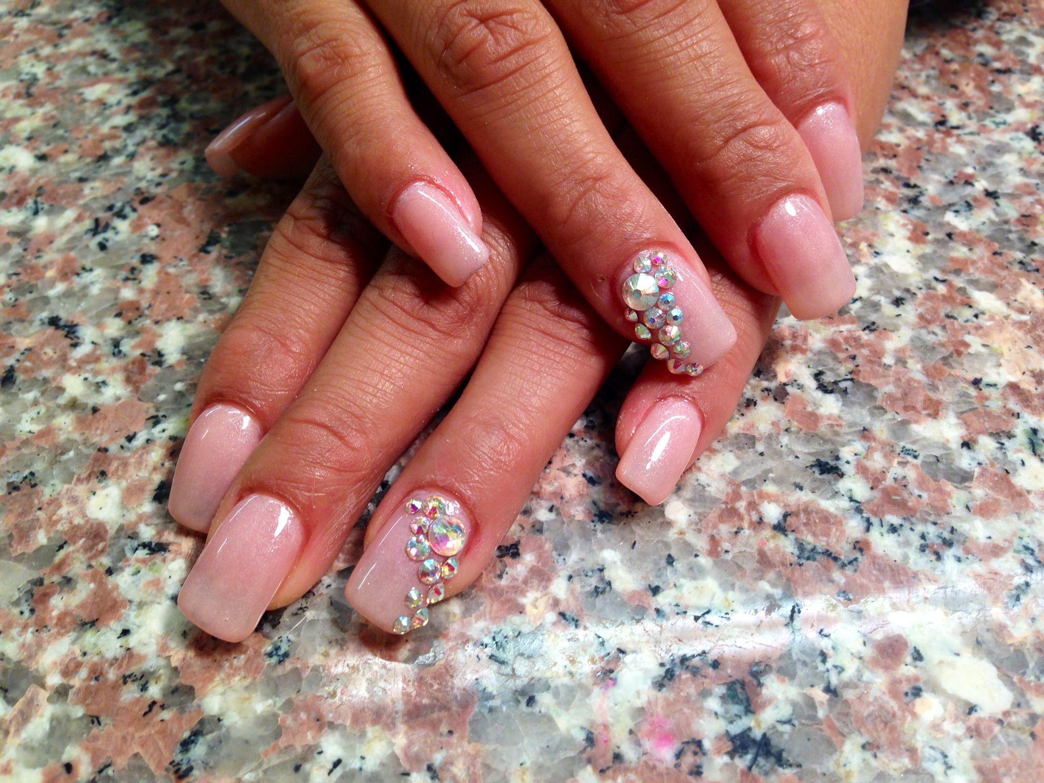 Acrylic nails. Bling. Gems. Fashion | Nails | Pinterest | Fashion ...