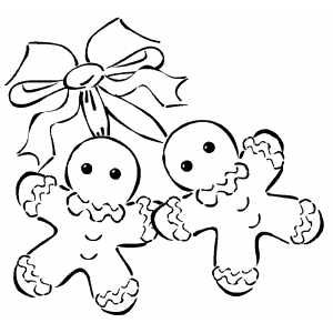 Gingerbread Men And Bow Coloring Page Christmas Coloring Pages Free Christmas Coloring Pages Printable Christmas Coloring Pages