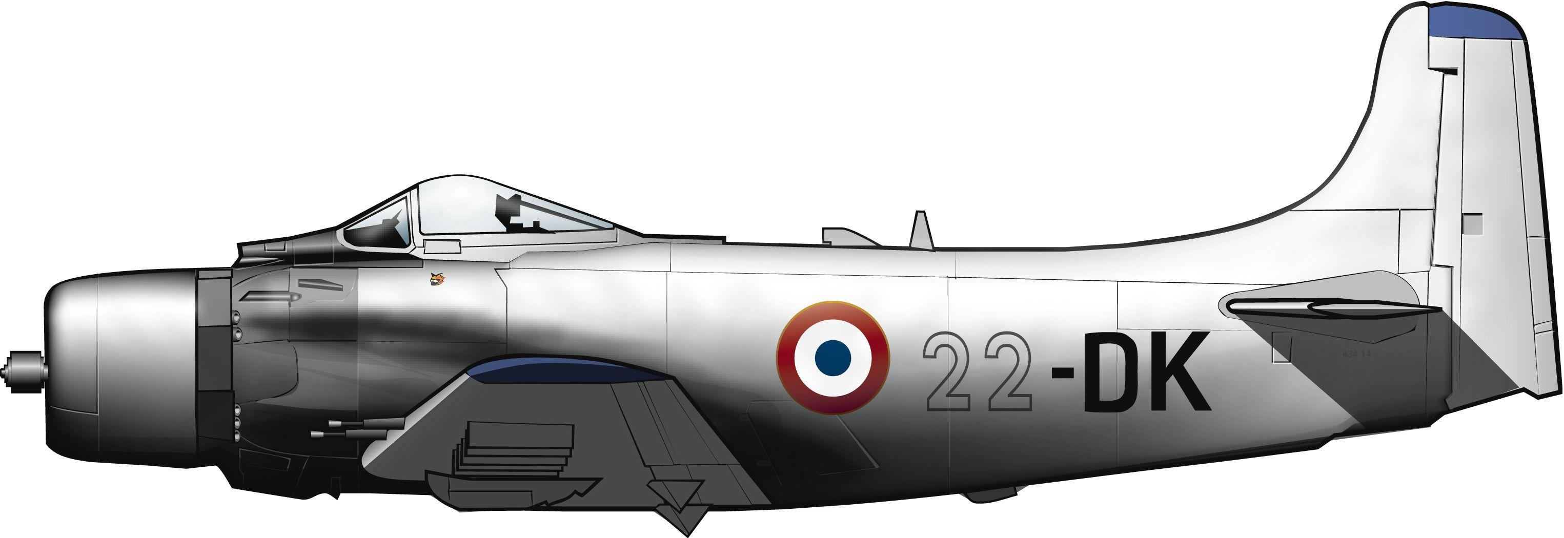 Douglas Skyraider de la Armée de l'Air en Yamena (Chad), 1968