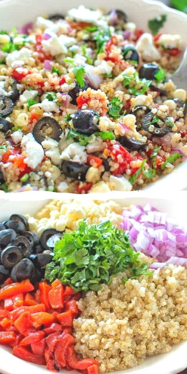 Mediterranean Quinoa Salad I've been on a roll in the kitchen this last week when it comes to mak