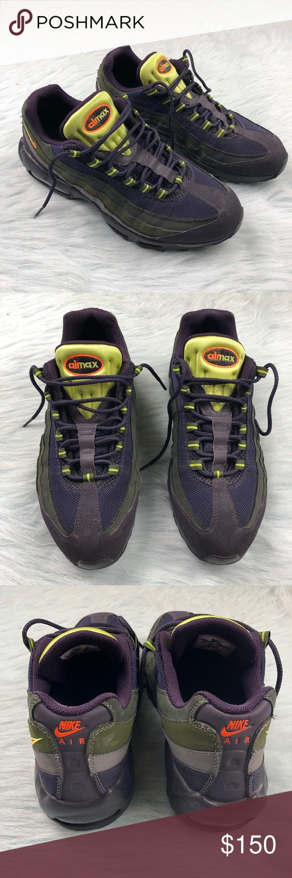 ddd03e42076c Nike Air Max 95 609048-500 Purple Green Men s 12 Men s size 12 Nike Air