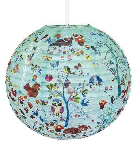 "Papier-Laterne Lampenschirm Kinderzimmerlampe (40 cm) ""critters ... | {Kinderzimmerlampe 11}"