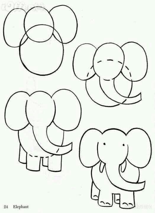 Elefantes Hacer Dibujos Para Ninos Dibujos Faciles Para Ninos Aprender A Dibujar Animales