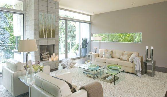 Love The Fireplace And Birchesand Nimbus Grey
