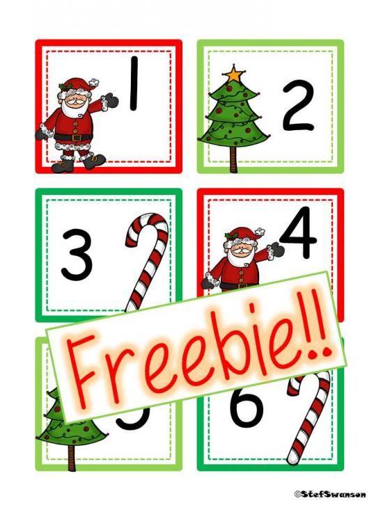 December Calendar Art Kindergarten : Freebie december christmas calendar cards abc pattern