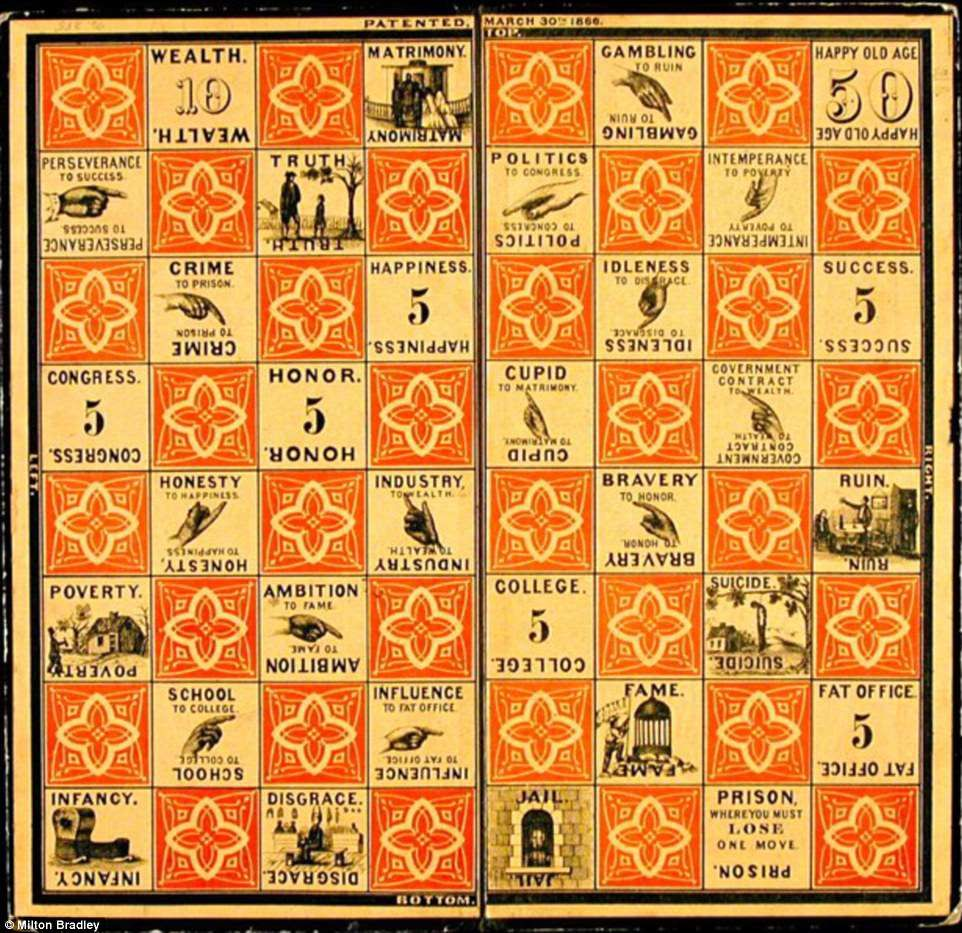 The Checkered Game of Life, 1860 | Game Boards in 2019