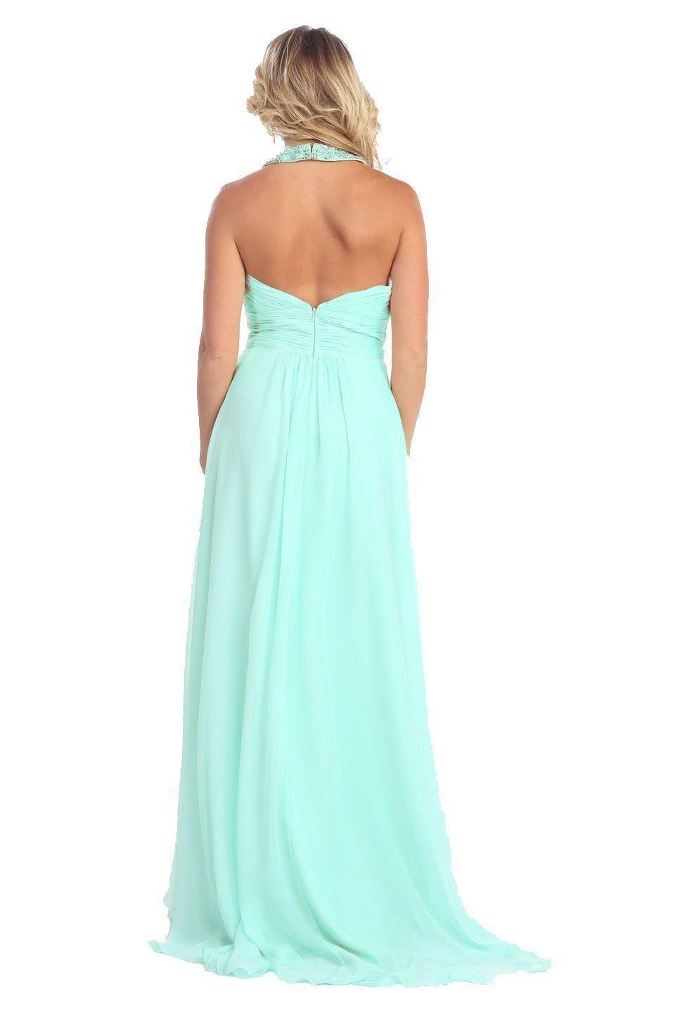 Halter top long plus size evening formal gown groom products