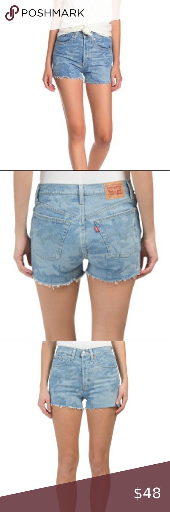 Levi S 501 High Rise Camo Cutoff Jean Shorts Cutoff Jean Shorts Jean Shorts Levi [ 1740 x 580 Pixel ]
