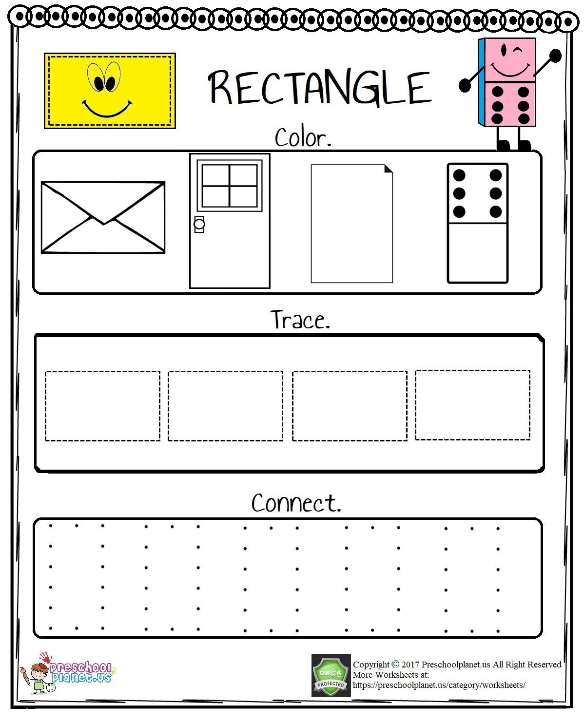 Rectangle Worksheet In