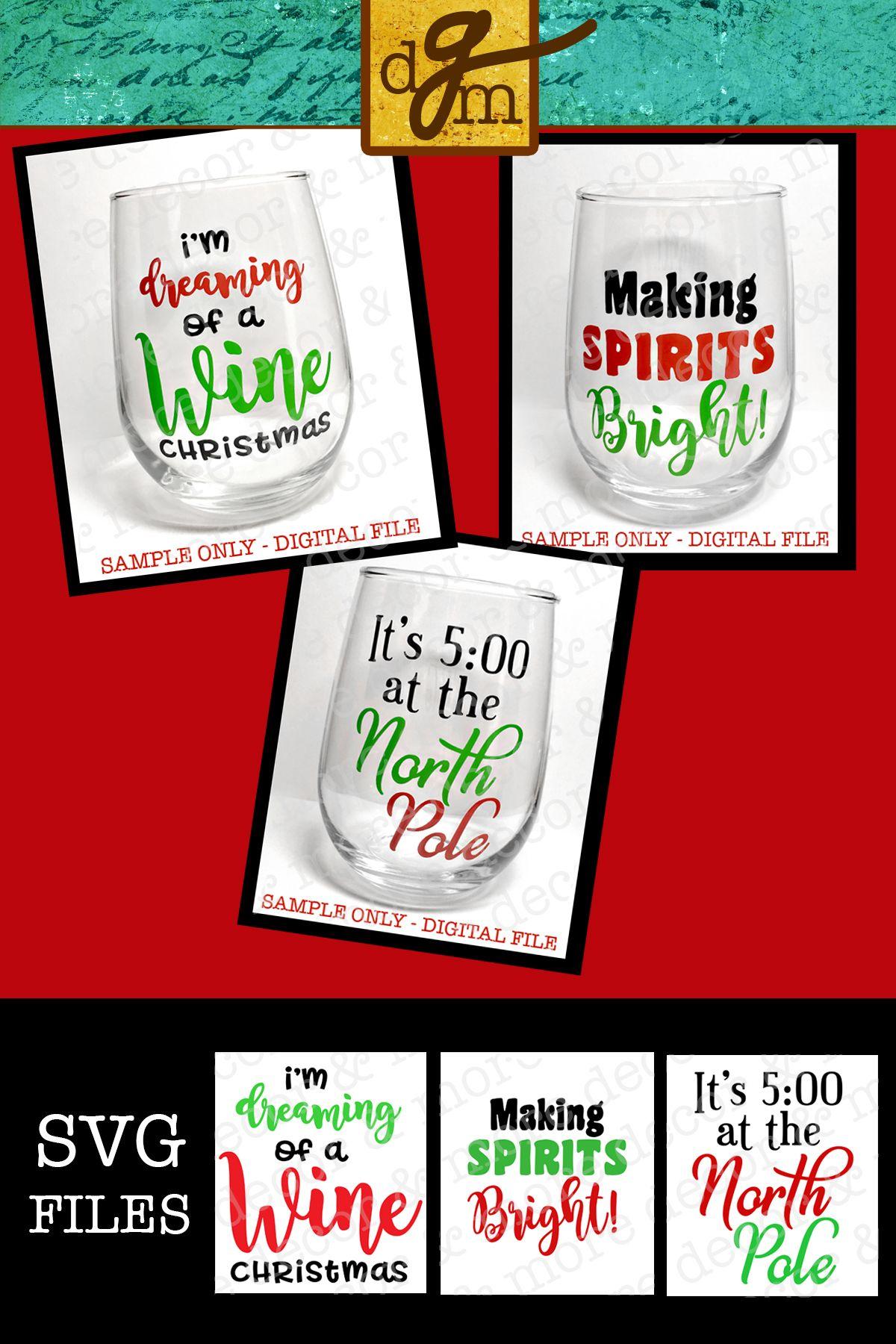 Christmas Wine Glass Svg Bundle Svg Files For Cricut Christmas Wine Glass Decal Wine Svg Bundle Christmas Svg File Gifts For Her Svg Christmas Wine Glasses Christmas Wine Diy Christmas Mug