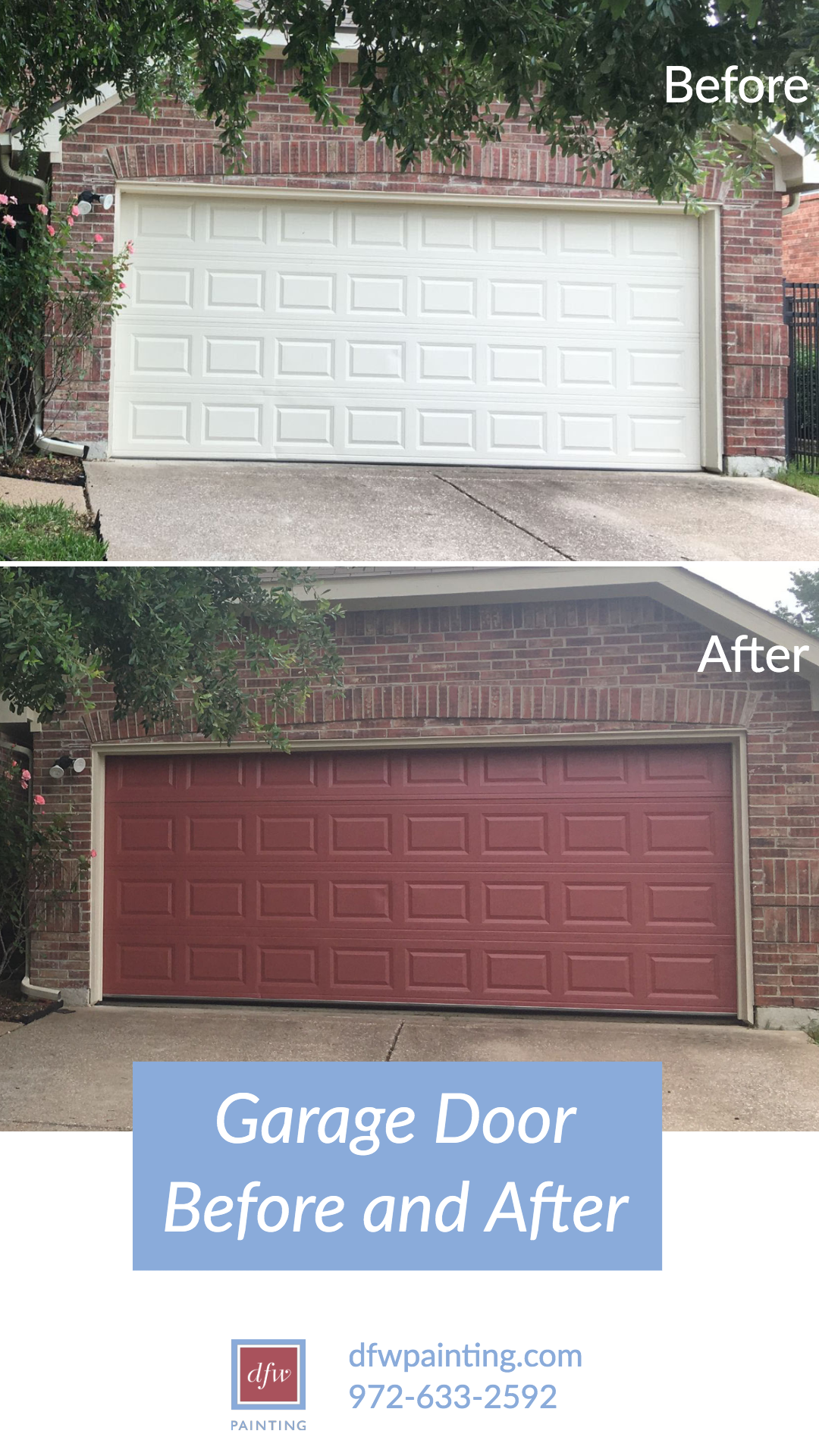 Updating The Color Of Your Garage Door Can Be As Easy As Adding A