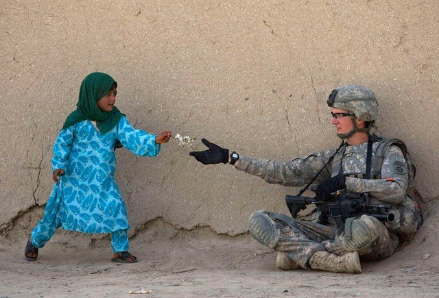 Kid Soldier Flower Earth Day Human Kindness Faith In