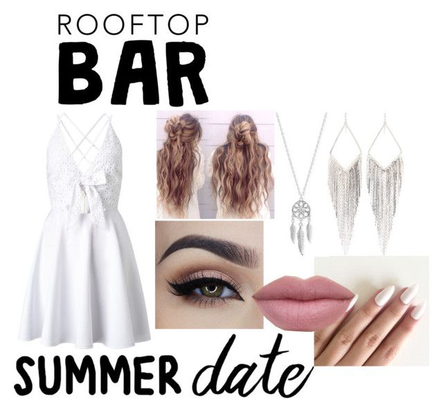 """""""Roof top bar Summer Date"""" by amyraines-1203 ❤ liked on Polyvore featuring Lipsy, Lucky Brand, Jules Smith, summerdate and rooftopbar"""