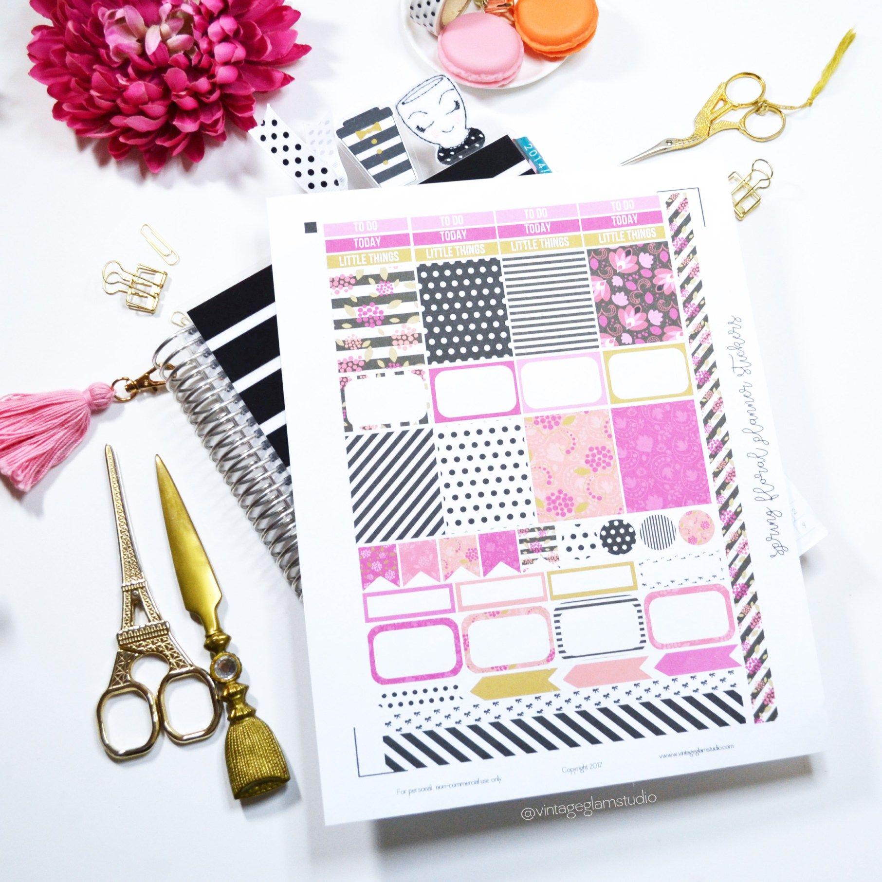 Erin Condren Printable, preview, planner stickers