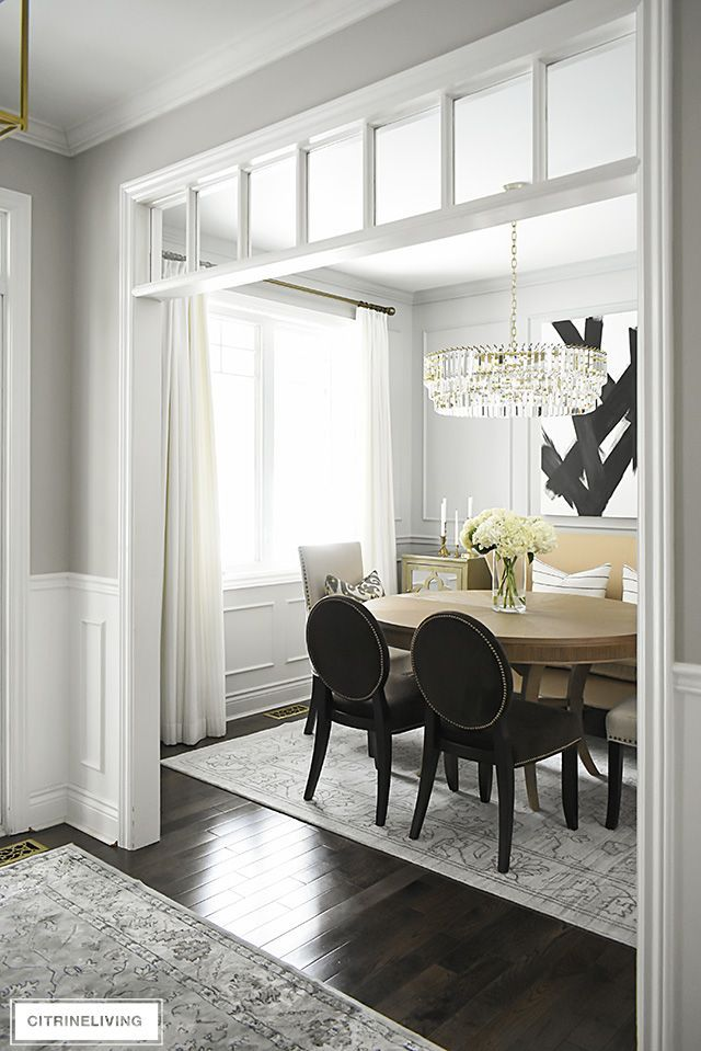 gorgeous dining room makeover reveal with new gray walls and moldings painted from the also paint favorite rh pinterest