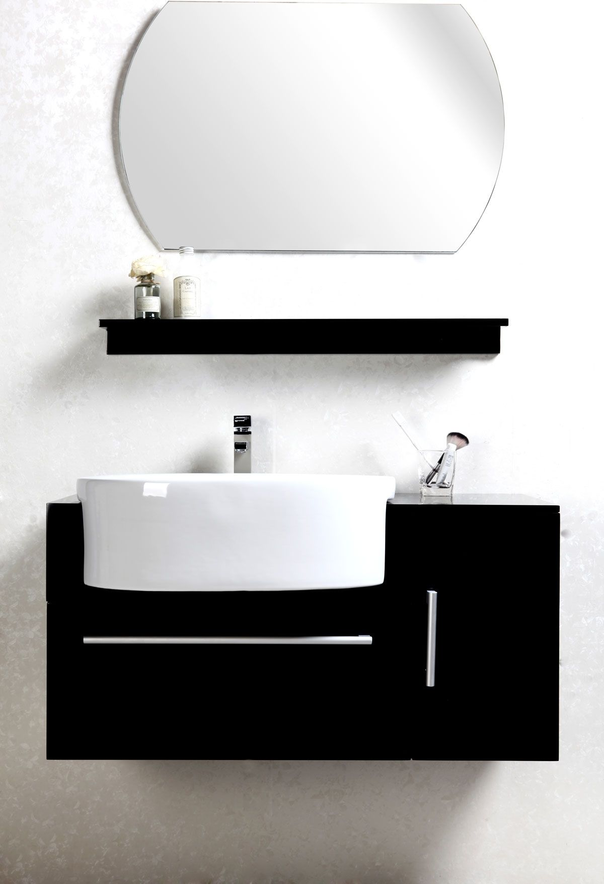 Conjunto de muebles de bao lavabo armario estantera y espejo