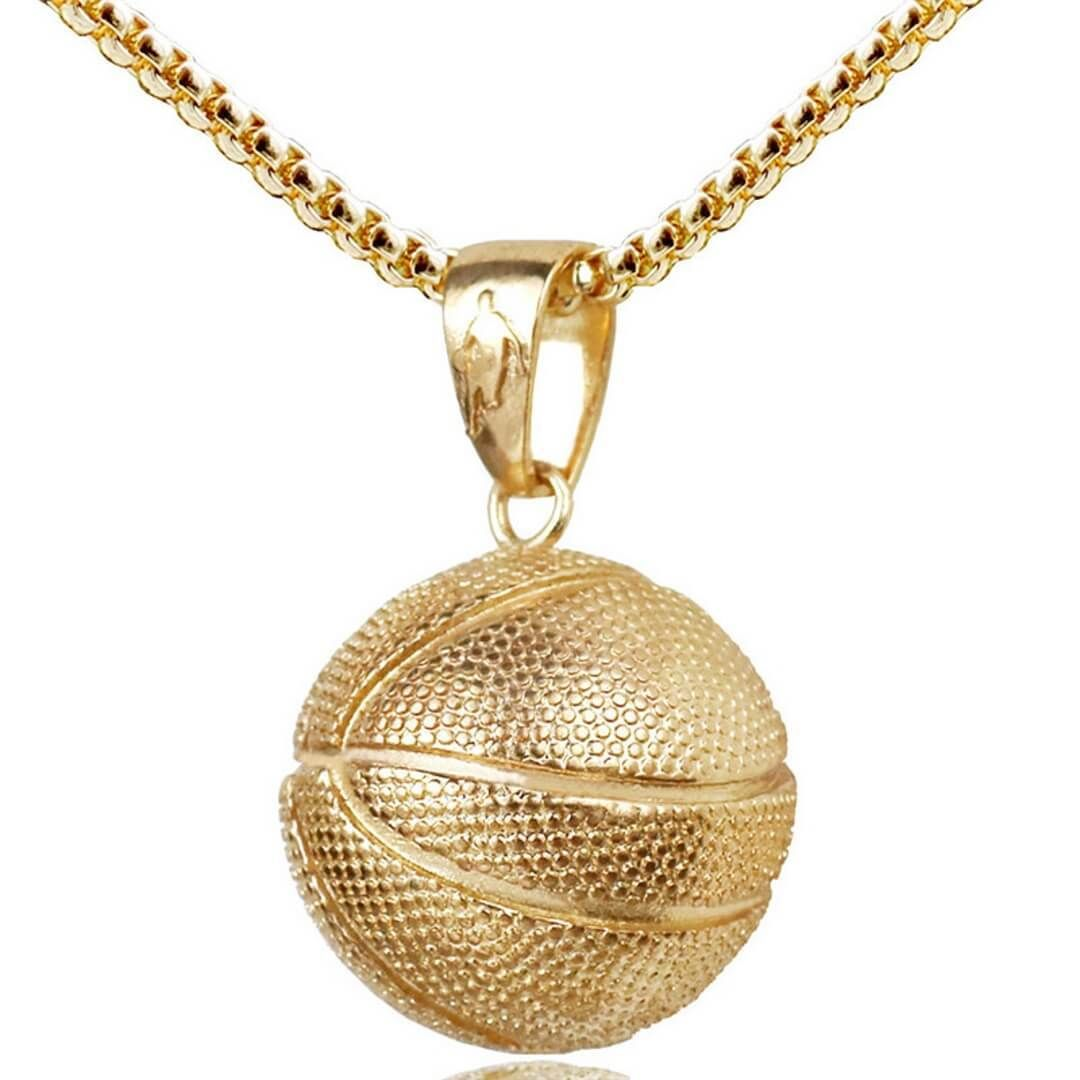Basketball charm pendant necklace for men and women perfect gift