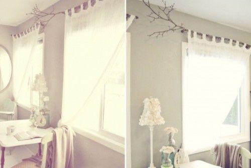 Original Diy Curtain Rods Of Tree Branches Diy Curtain Rods Diy
