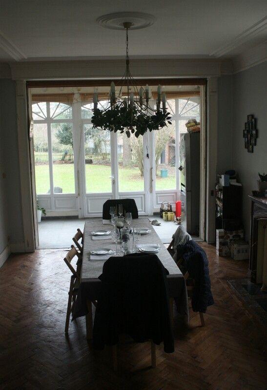 Salle à manger, parquet en chêne massif, cheminée en marbre - Salle A Manger Parquet