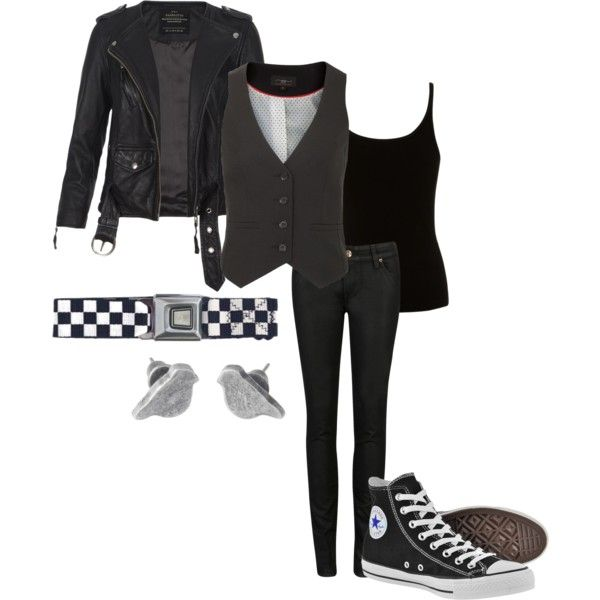 """monochrome"" by ktmac92 on Polyvore"