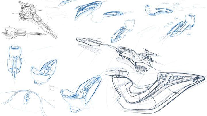 ISD Rubika Pininfarina Eredita Romana Concept - Design Sketches