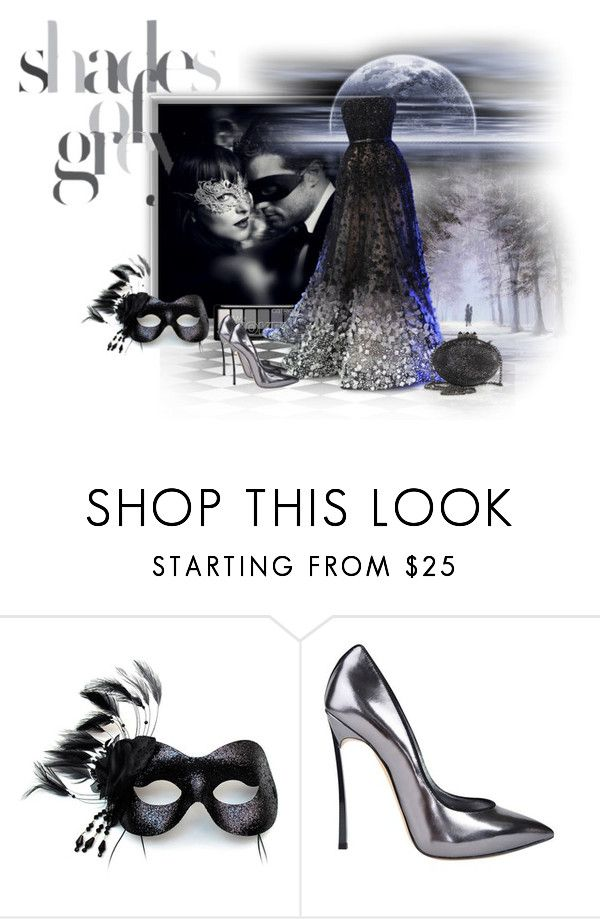 """""""50 Shades Darker"""" by neverboring ❤ liked on Polyvore featuring Masquerade, Elie Saab, Casadei and Christian Louboutin"""