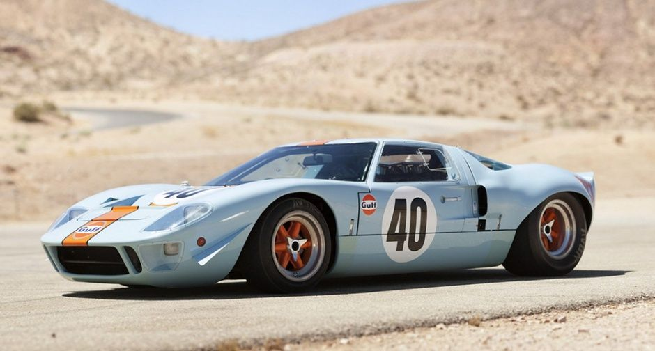 Ford Gt40 In Shell Livery Ford Gt40 Classic Racing Cars