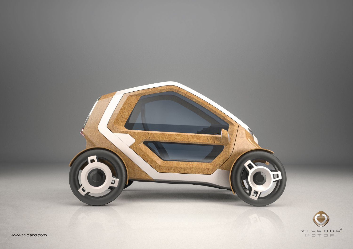 Villgard Motor Pedal Electric Car With Sustainable Material Bio The Bmw I1 Is An Singleseater Trikecar Concept By Designer Cars Transportation Design Composites Hemp Fibres