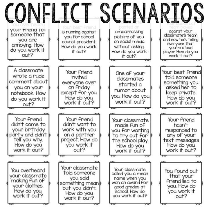 Conflict Resolution Classroom Guidance Lesson For School Counseling Social Skills Groups Guidance Lessons Coping Skills Conflict practice worksheets