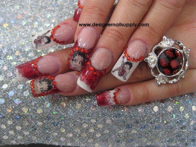 Pin By Antonette Goosen On Nails Pinterest Betty Boop Glitter