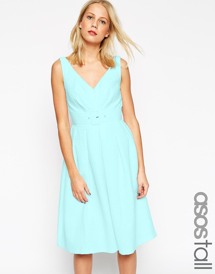 ASOS TALL 50\'s Belted Prom Dress | My Style | Pinterest | Prom ...