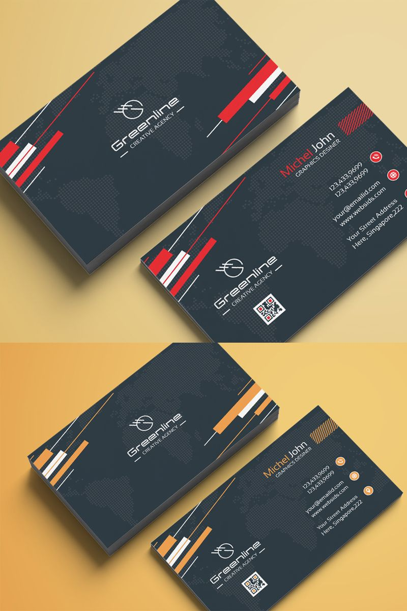 Business Card Vol 12 Corporate Identity Template Vol Card Business Beautiful Business Card Business Cards Corporate Identity Elegant Business Cards Design