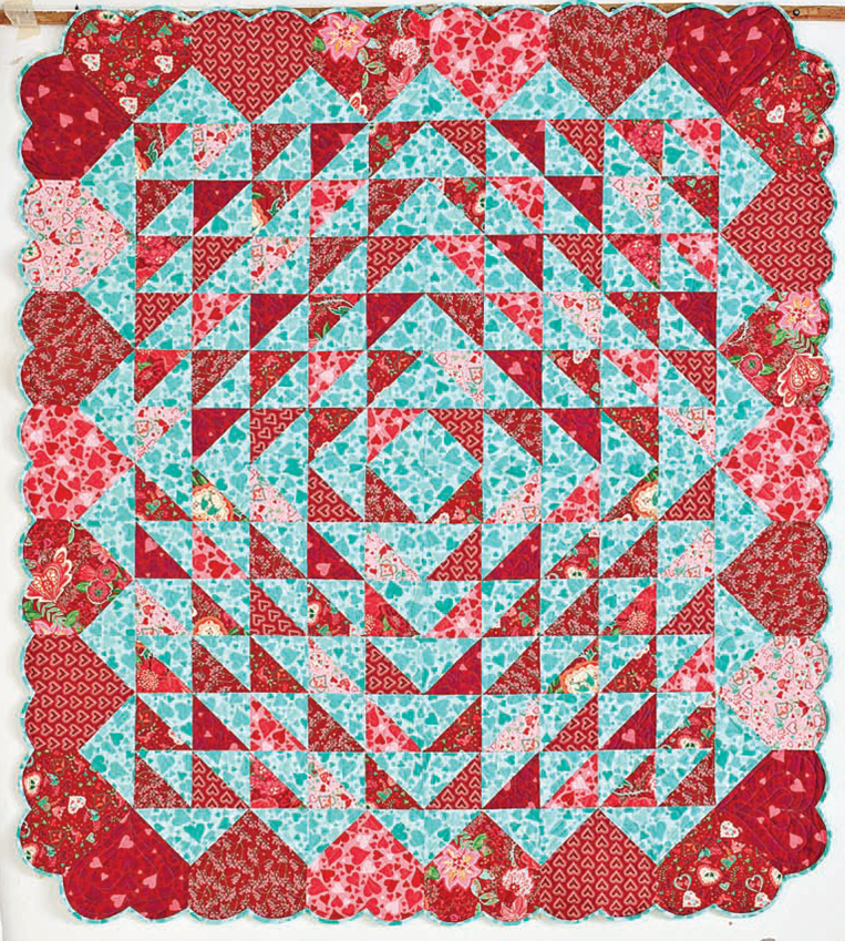 Free Pattern Day Hearts And Valentines Heart Quilt Pattern Heart Quilt Quilt Patterns