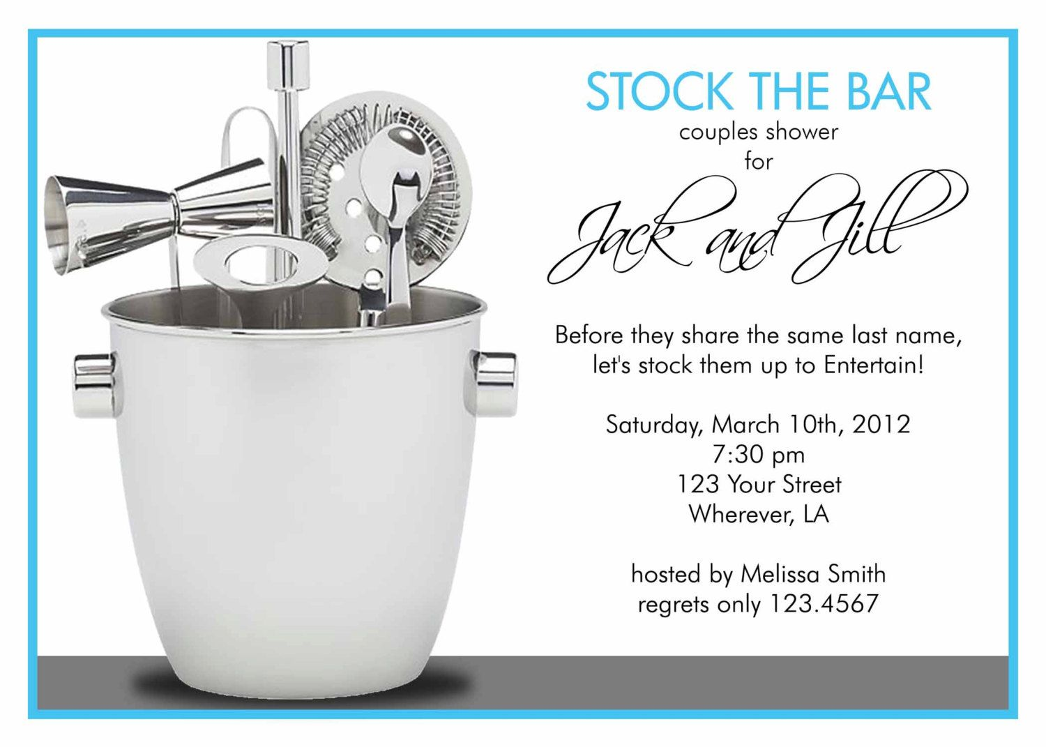 Stock The Bar Shower Invitation By Letspartynola On Etsy 1000