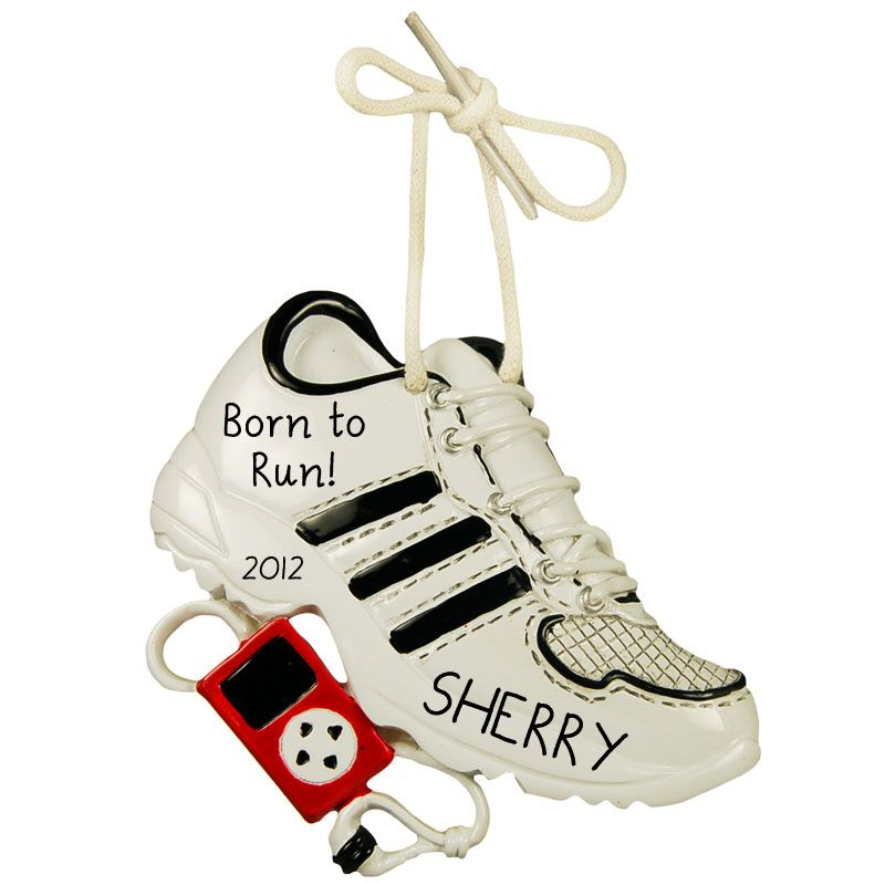 personalized running shoe christmas ornament gift idea ornaments - Shoe Christmas Ornaments