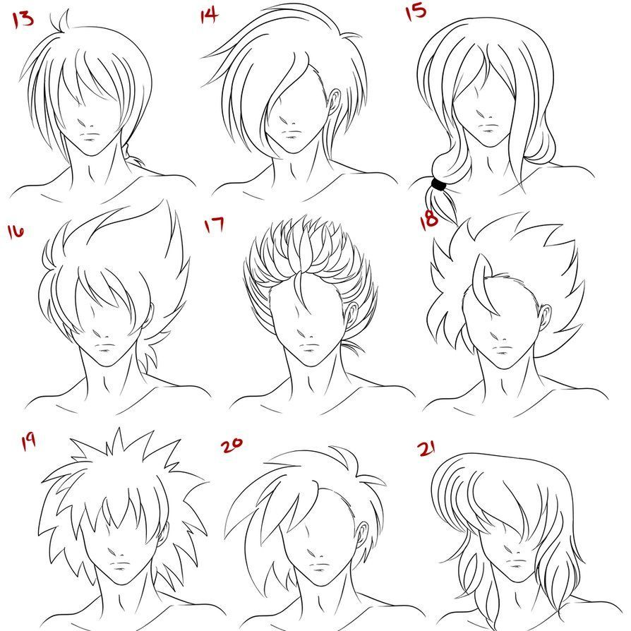 17 Anime Male Hairstyles Side View In 2020 Anime Hair How To Draw Hair Anime Guys