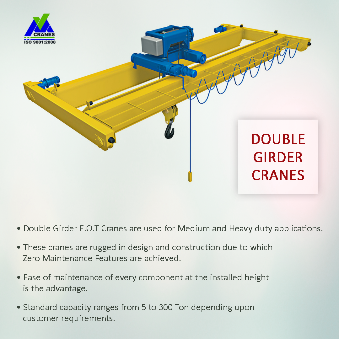 Types of Cranes Double Girder Cranes. VM Engineers are