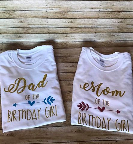 Dad And Mom Of The Birthday Girl By ThePoshPittBoutique On Etsy