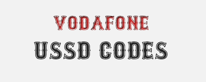 All Vodafone USSD Codes For Indian Users | USSD Codes