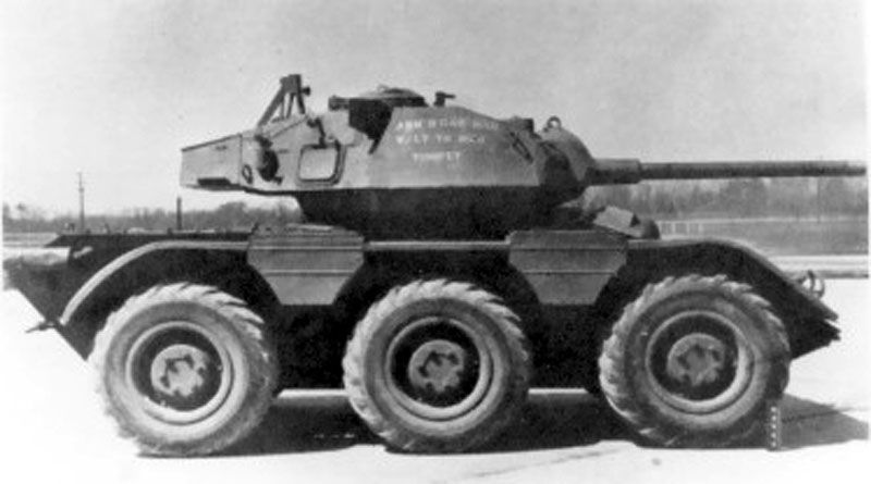 The M38 Wolfhound armored car with the turret from the M24 Chaffee